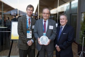 Humanitarian Award recipient, Professor Arne Ljungqvist (center), with GSD Executive Board members, David Ulich and Dr. Steven Ungerleider. (Photo: Bjorn Bertoft)