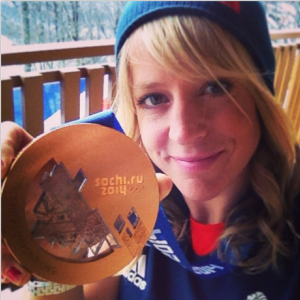 Jenny shares her medal with the world on Instagram.