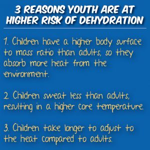 Children at higher risk of dehydration