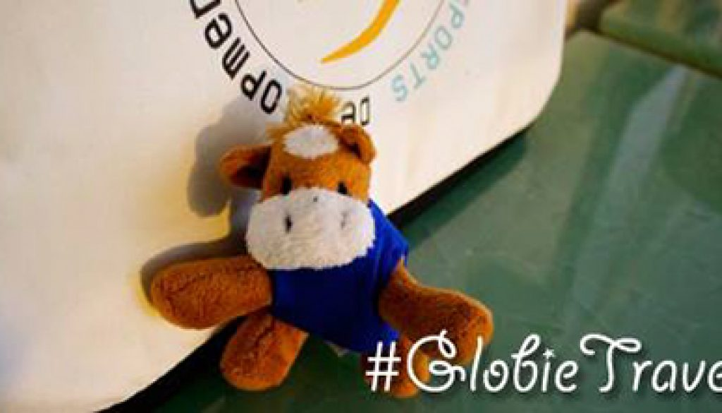 GSD's mascot Globie is a horse, and you can follow his adventures on social media using the hashtag #GlobieTravels