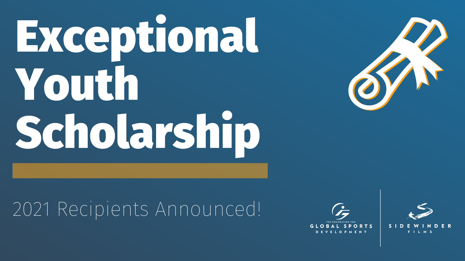 The Foundation for Global Sports Development Awards $60,000 in Scholarships to the Class of 2021