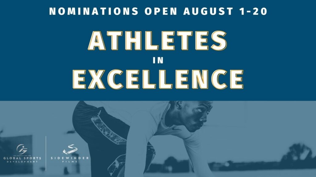 Nominations run August 1st - 20th for the Athletes in Excellence Award