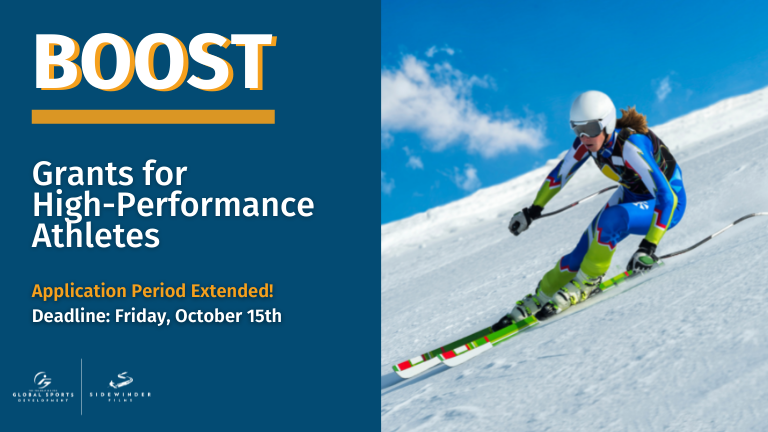 Application Period Extended for the BOOST Athlete Grant Program from The Foundation for Global Sports Development